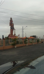 85 foot Hanuman Murti at Sri Dattatreya Yoga Centre, Orange Field Road, Carapichaima
