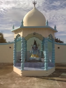 The dome of the Coromandel Shiv Mandir, Coromandel Village, Cedros