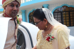 My Beautiful Mom, Mrs. Doris Thomas meets my handsome Groom, Mr. Shiva Jeremiah