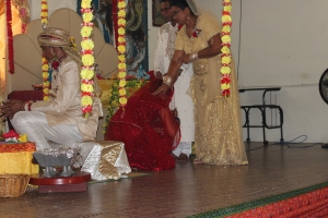 Thankful for an opportunity to bow at the feet of my parents, My Mataji and My Pitaji!
