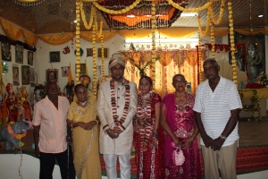 A pic of us with my grandparents, Mr Ramlal Dookie and Mrs Celia Dookie and my aunt, Mrs Mary Bheem and my uncle Uncle James Bheem