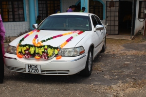 The wedding car!