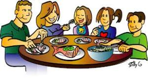 This represents my favourite childhood memory- The entire family sitting down for dinner or lunch. We would be at school during the week and dad left early for work and most times he got home late. We tried to have one meal together for the week. It was initiated by my dad and family meal time is something we enjoyed.