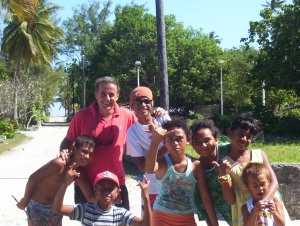 Kenneth with some children of French Polynesia