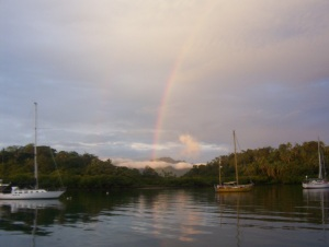 A rainbow in Fiji