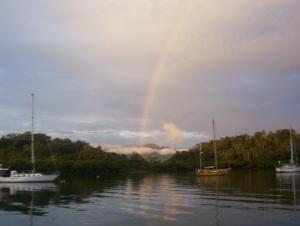 A rainbow in Fiji