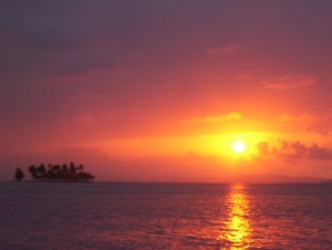 Sunset in the San Blas Island, Panama