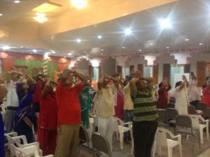 Worship with devotees!