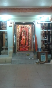 A very beautifully decorated Sri Hanumanji after Puja was completed!
