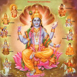 The avatars of Lord Vishnu!