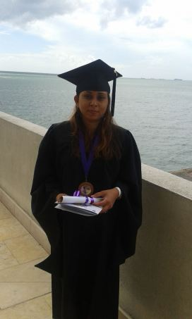 A picture Shiva took after the Graduation Ceremony